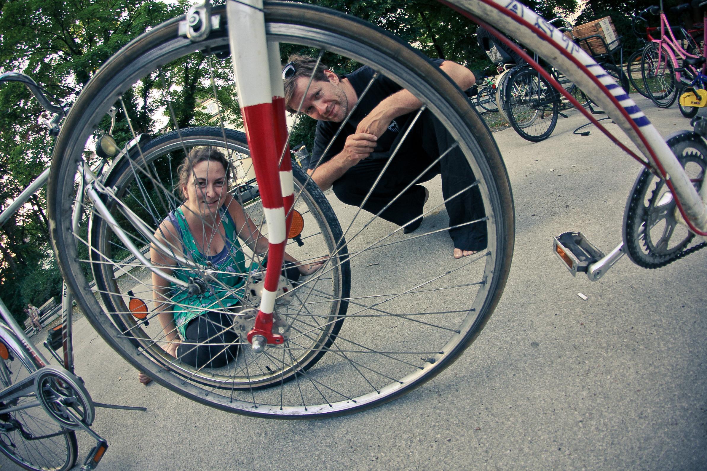 Heidi und Horand, erfolgreiche Jungunternehmer und ambitionierte Radlretter. Foto: Radlretterei