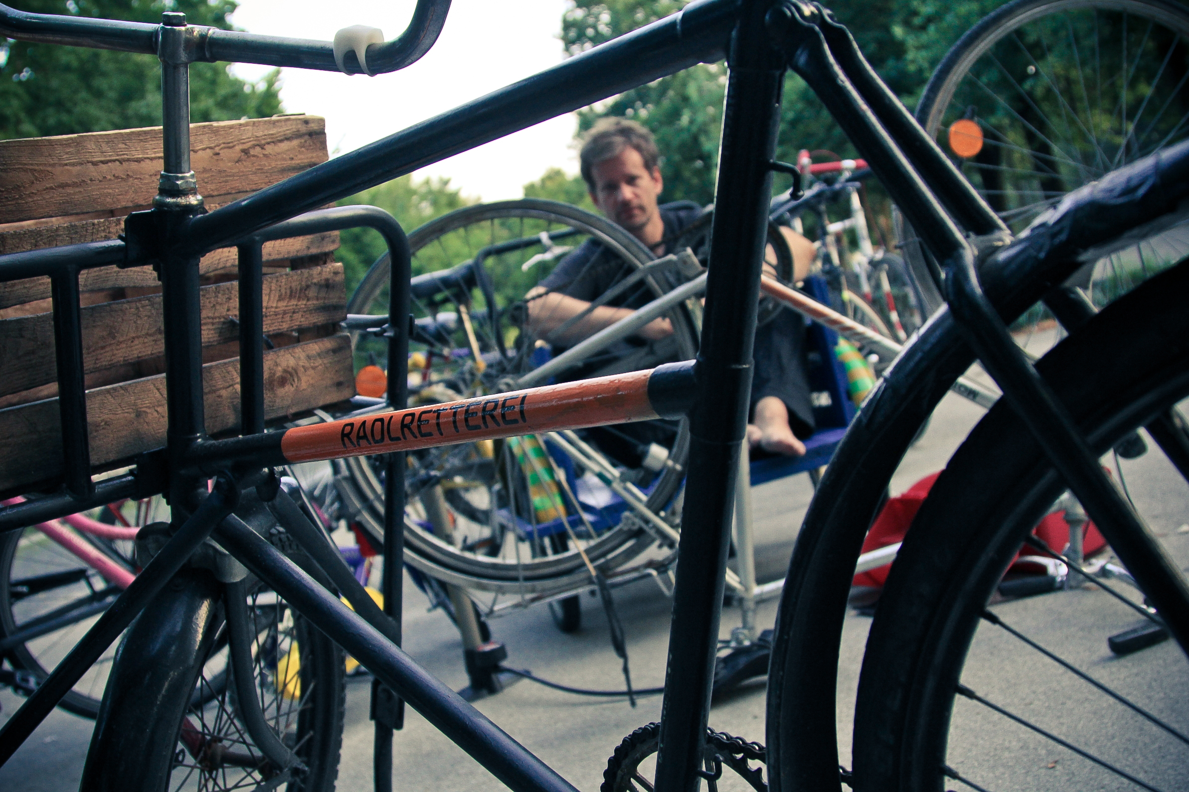 Ein Meister des Upcyclings: Horand. Foto: Radlretterei