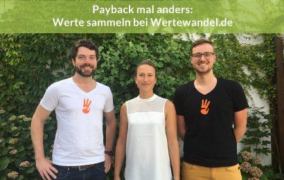 Payback mal anders: Werte sammeln bei Wertewandel.de