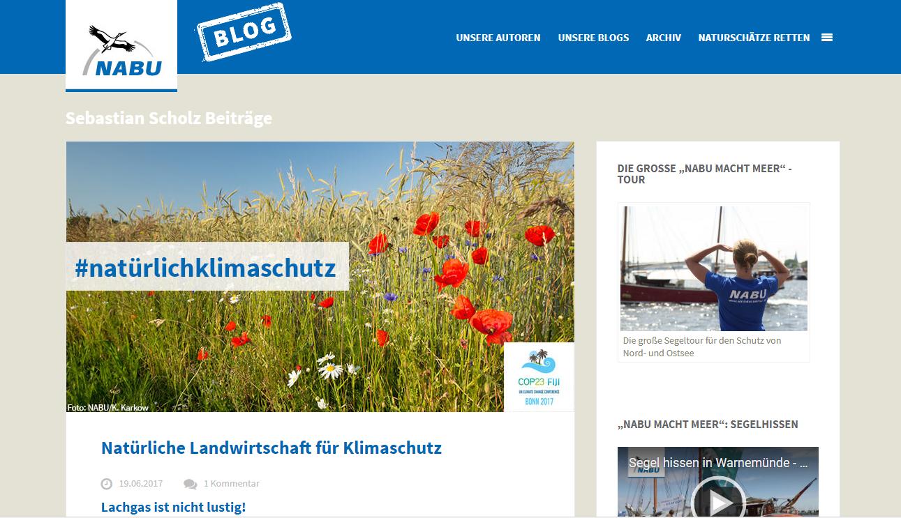 Sie möchten mehr von Sebastian Scholz lesen? Unter https://blogs.nabu.de/author/sscholz/ bloggt er übers Klima. Screenshot: nabu.de