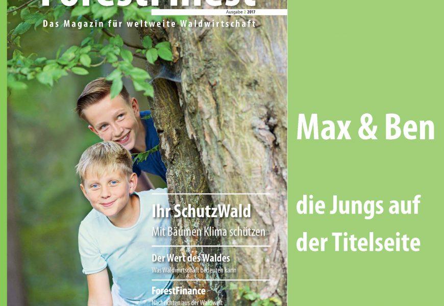 Max & Ben – die Jungs auf der ForestFinest-Titelseite