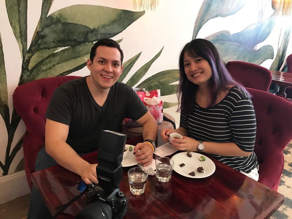 Schokoladenverkostung im Tropical Chocolate Café? Gerne wieder! Foto: ForestFinance