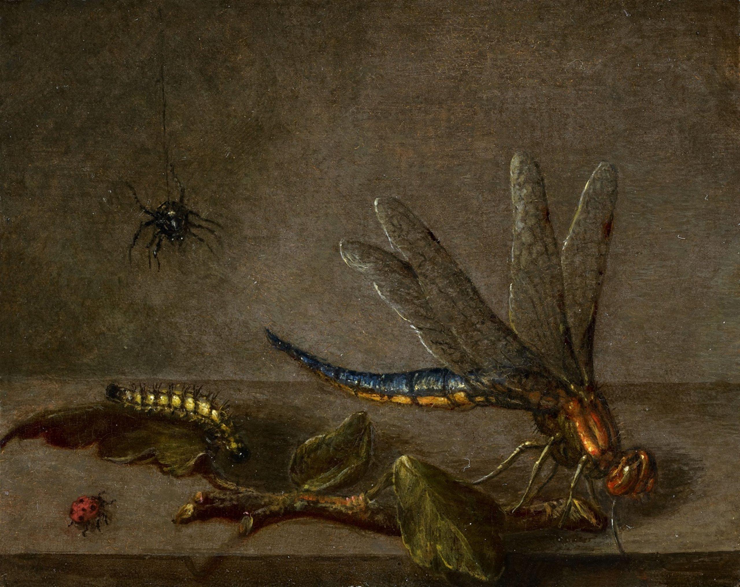 Stllleben mit Insekten – ist ein Bild aus der Niederländischen Schule des 17. Jahrhunderts. Nur 10 mal 12,8 Zentimeter große ist es mehr als 6.000 US-Dollar wert. Bild: Auktionshaus Lempertz
