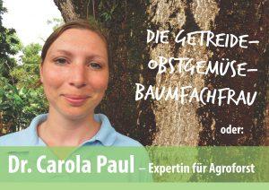 Dr. Carola Paul – Agroforstexpertin