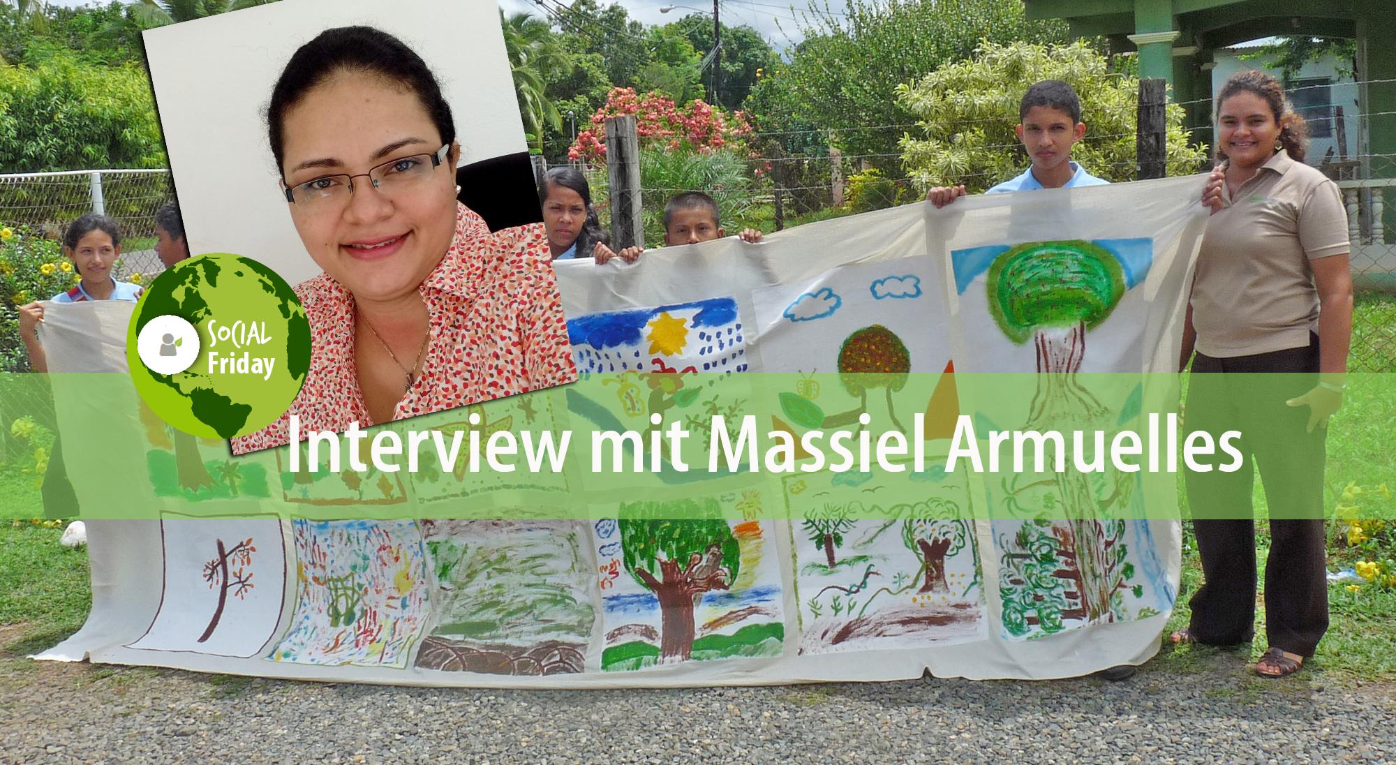 Mitarbeiterin Massiel Armuelles engagiert sich für die Umwelt-Schüler-AG vor Ort. Foto: ForestFinance