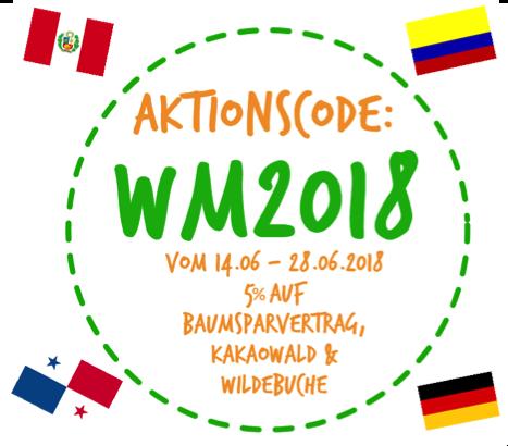 Mit dem Aktionscode WM2018 erhalten Sie in der WM-Vorrunde 5 Prozent Rabatt auf Produkte aus ForestFinance-Projektländern, die an der Fußball-WM teilnehmen.