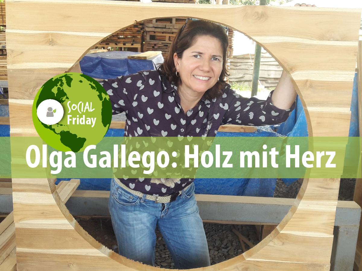 Olga Gallego liebt Holz und ihren Beruf. Foto: ForestFinance