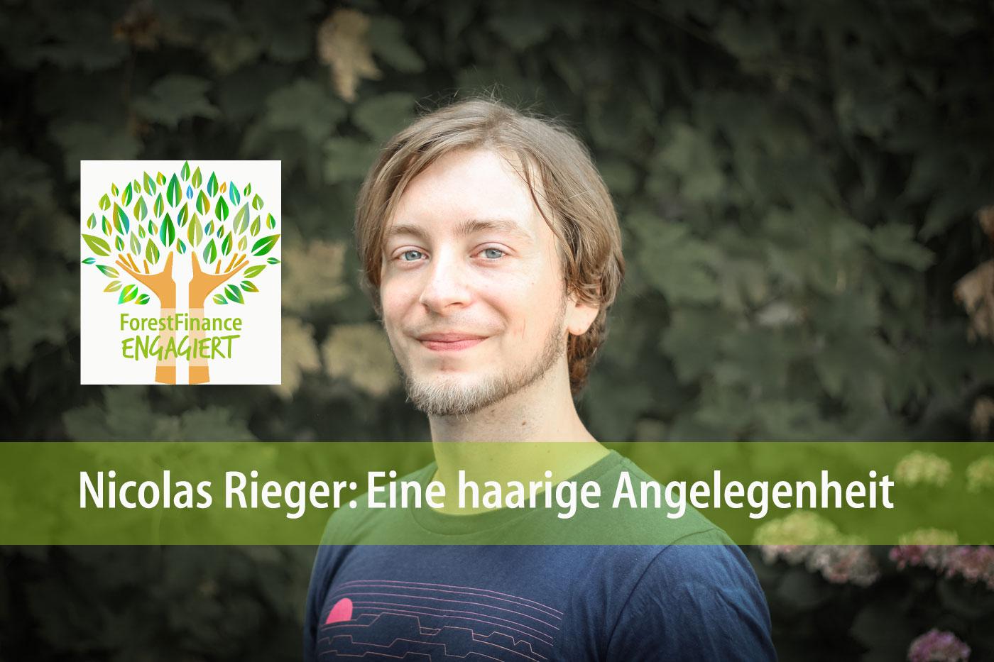 Nicolas Rieger, der bei ForestFinance für IT verantwortlich ist, spendete seine Haare. Foto: ForestFinance