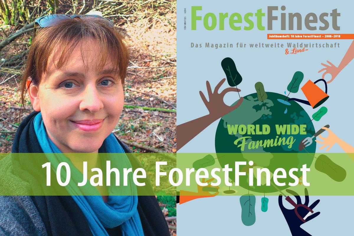 Redakteurin Christine Sommer-Guist mit der aktuellen Ausgabe unseres Kundenmagazins ForestFinest. Foto: privat