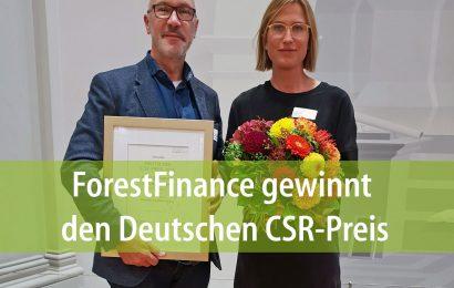 ForestFinance gewinnt den Deutschen CSR-Preis