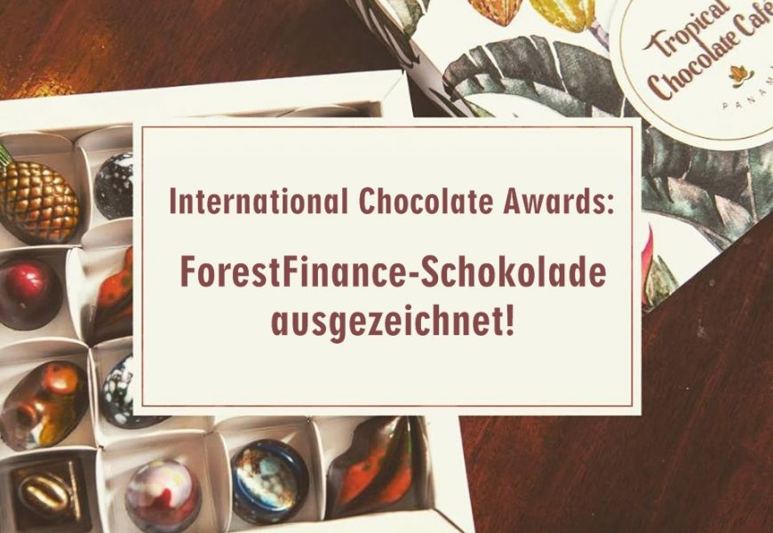 International Chocolate Awards: ForestFinance-Schokolade ausgezeichnet