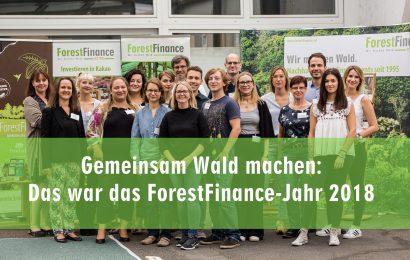 Gemeinsam Wald machen: Das war das ForestFinance-Jahr 2018