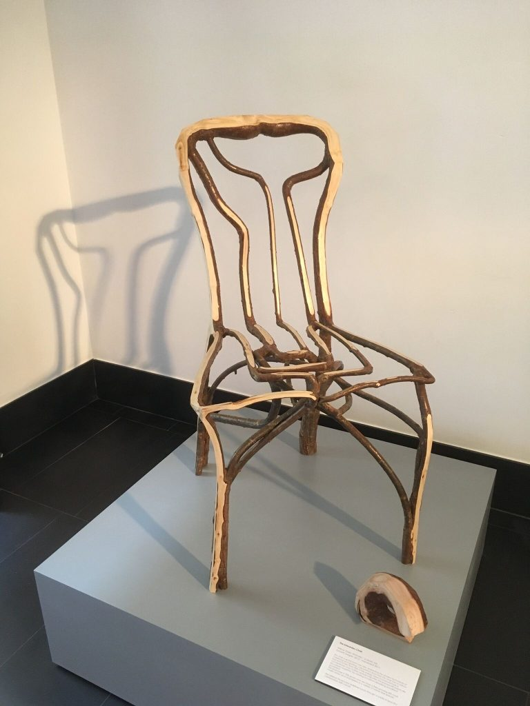 Einer von Munros Stühlen ist im Museum of Scotland ausgestellt - eine große Ehre. Foto: privat