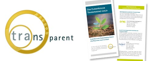 Transparenzlogo und der Europäische Transparenz Kodex