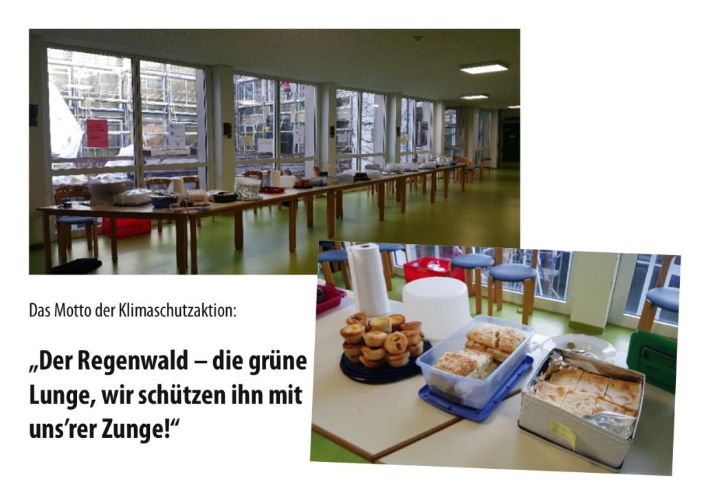 Kuchen- und Pizza-Verkauf im Hildegardis-Gymnasium für den guten Zweck.