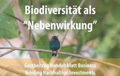 """Biodiversität als """"Nebenwirkung"""""""
