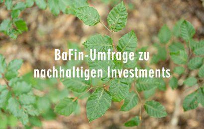 BaFin-Umfrage zu nachhaltigen Investments