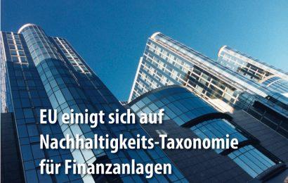 """EU definiert """"nachhaltige"""" Finanzprodukte"""