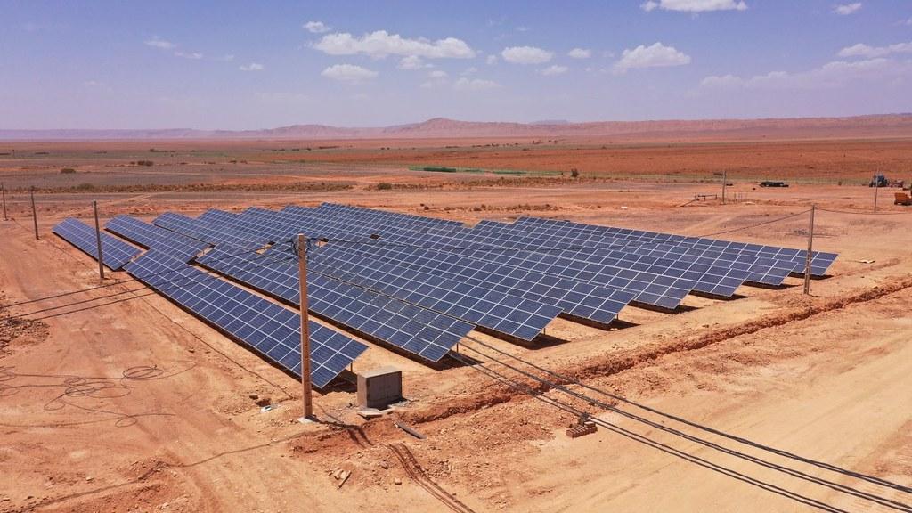 Solarpanels in Marokko.